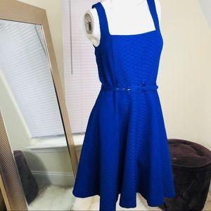 Armani Exchange Fit and Flare Cobalt Blue Dress